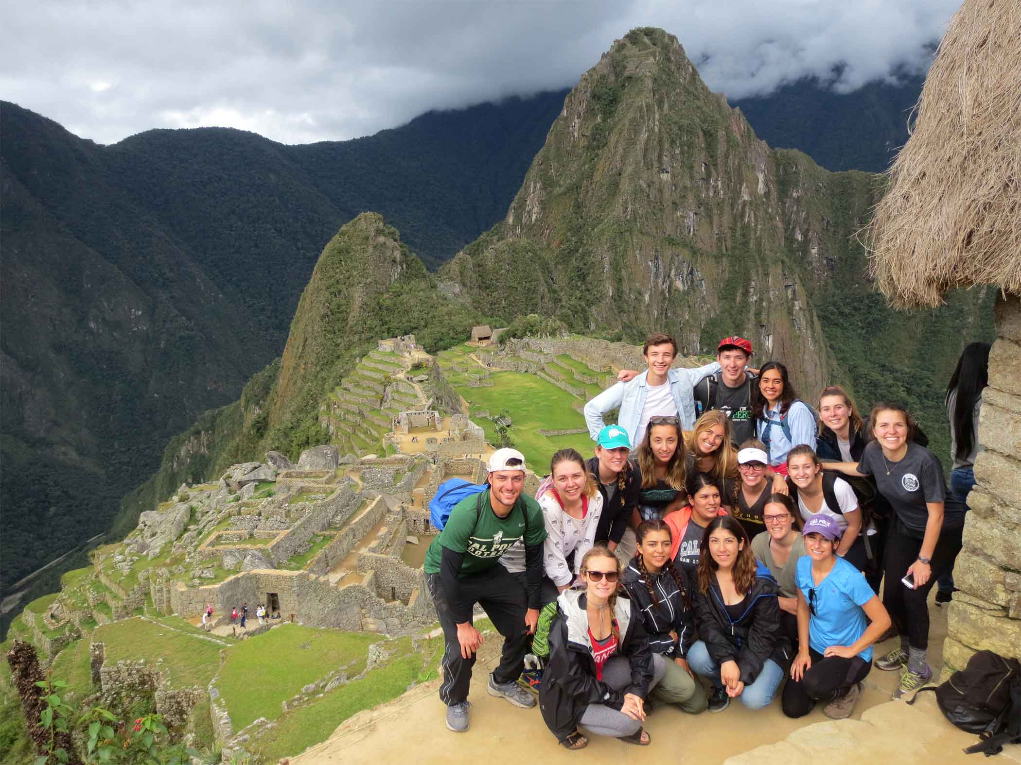 Cal Poly students visit the Incan ruins at Machu Picchu, which dates to the 15th century, during a Study Abroad session in Peru.