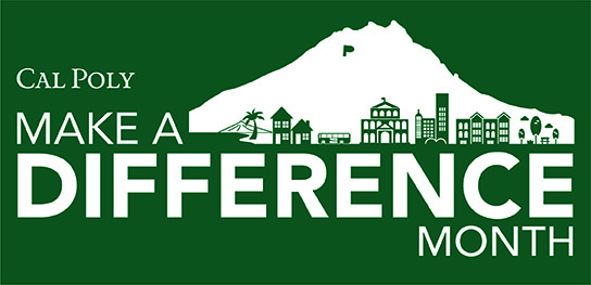 Cal Poly Make a Difference Month logo