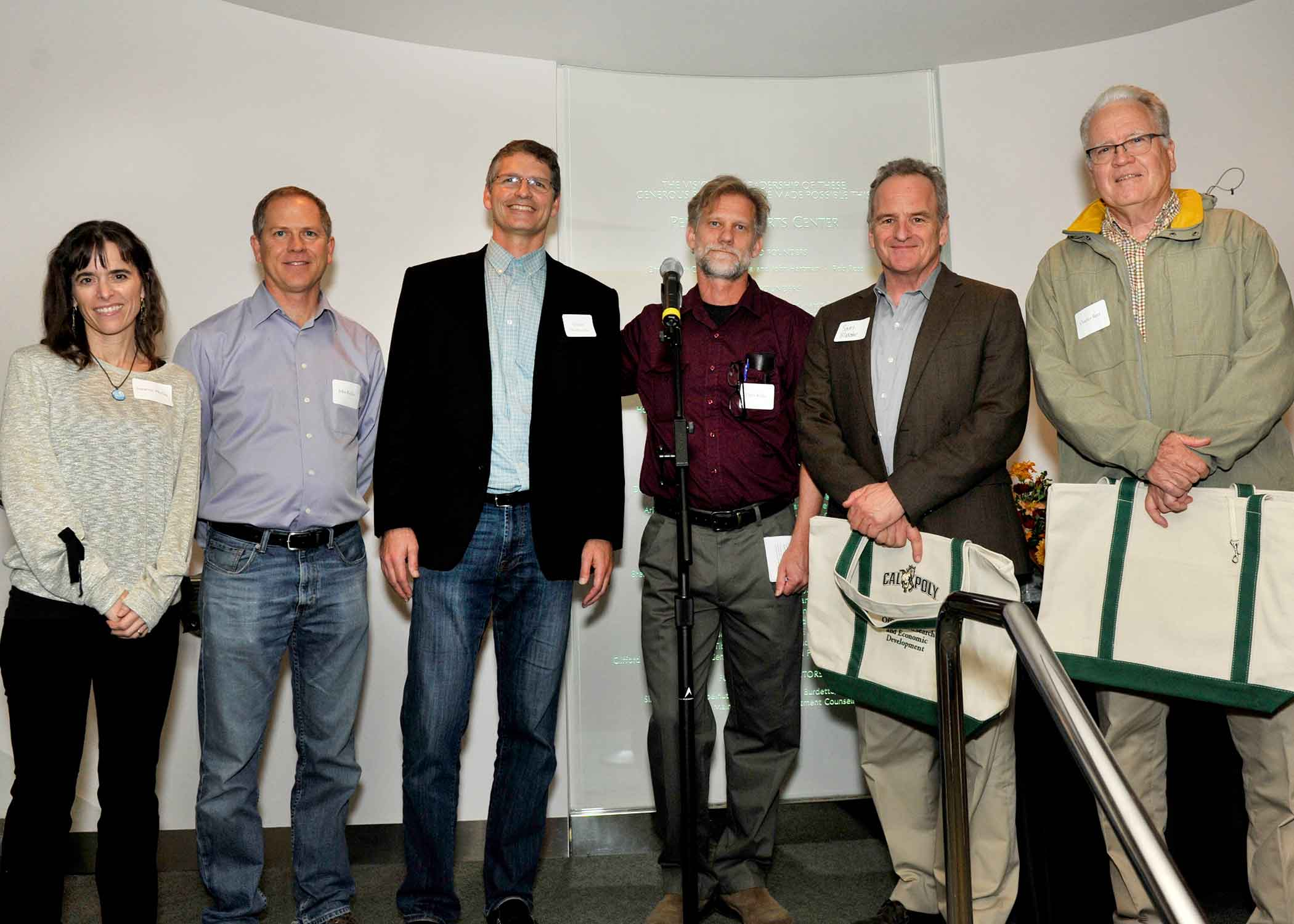 Group photo of some Cal Poly university researchers.