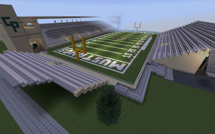 CSSE students will attend a virtual graduation ceremony at a recreated version of Spanos Stadium on Minecraft. Students and faculty will continue to build their virtual campus until graduation.