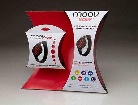 Moov Now entry, which earned second place in a national student packaging design competition.