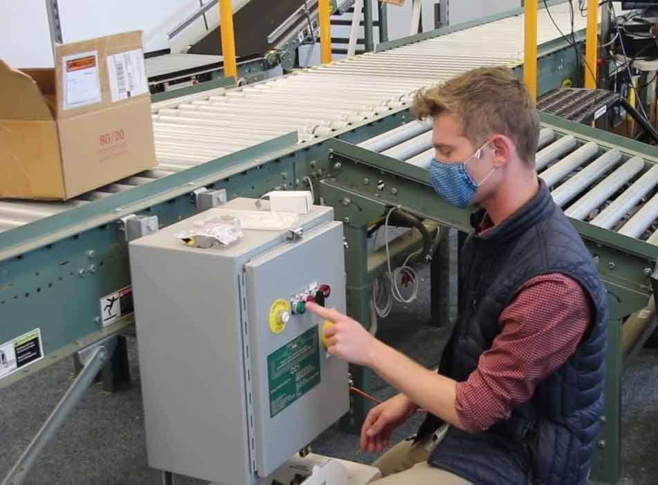 Dylan Moreland, an industrial engineering student, is working on a senior project sponsored by Viasat, a Carlsbad-based firm that offers high-speed satellite internet around the world. The company, a longtime Cal Poly supporter, is sponsoring a lab for industrial and manufacturing engineering students.