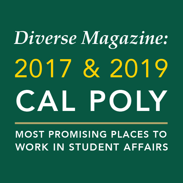 2017 & 2019 Cal Poly Most Promising Place to Work in Student Affairs