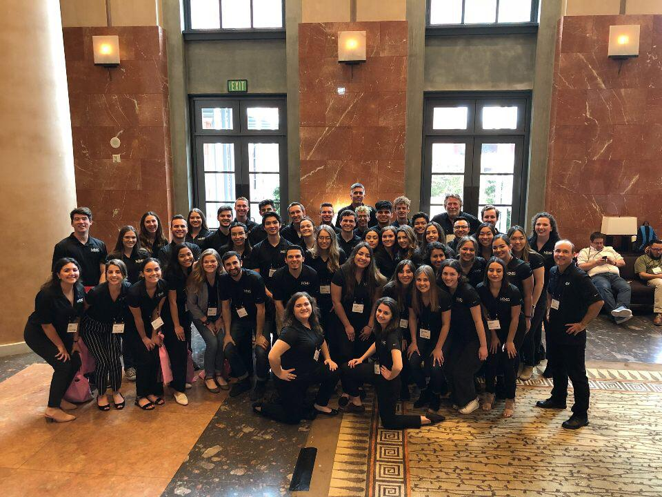 More than 50 student staff from the editorial and business branches of Mustang Media Group attended the ACP/CMBAM national college media convention on March 2 in La Jolla, California, where they were recognized with 46 state and national awards.