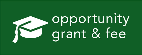 Cal Poly Opportunity Grant and Opportunity Fee logo with graduation cap