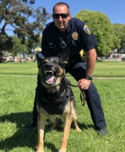 Officer Chad Reiley and K9 Brisant