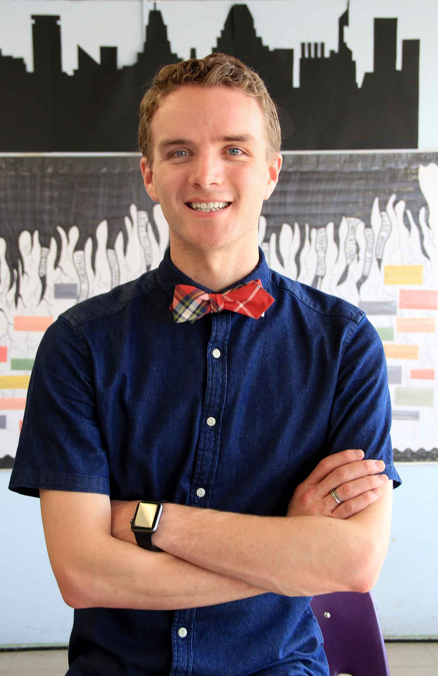 Photo of alumni Wyatt Oroke, a Baltimore middle school teacher