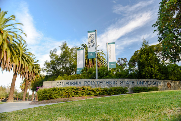 An entrance to Cal Poly in San Luis Obispo.