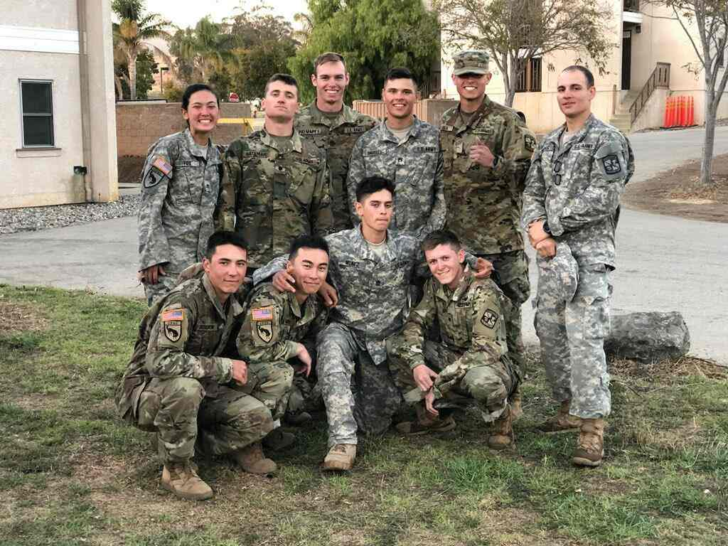 Cal Poly ROTC team members.