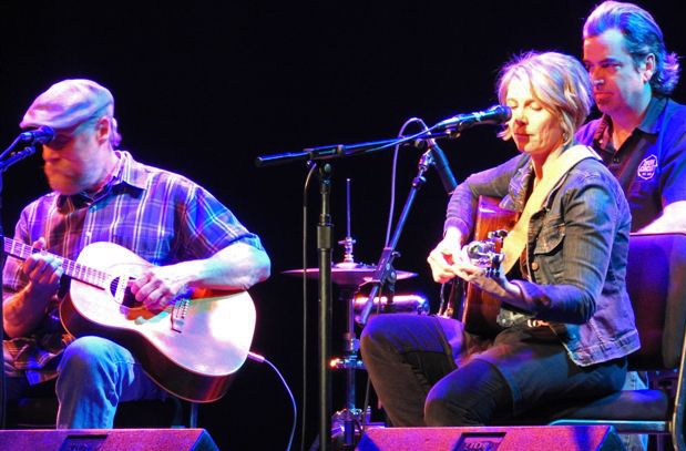 Local musicians perform at San Luis Obispo Responds, a benefit concert, including Inga Swearingen and Guy Budd.