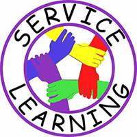 Service Learning logo with hands holding each other.