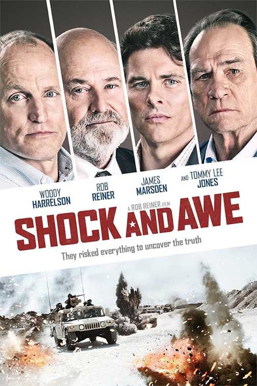 "Film poster for ""Shock and Awe"" movie"