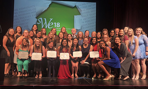 Photo of the members of the Cal Poly Society of Women Engineers