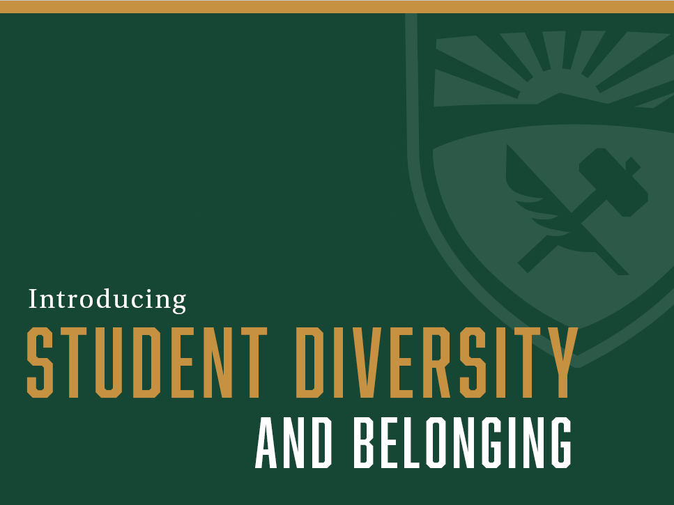 Graphic reading Introducing Student Diversity and Belonging
