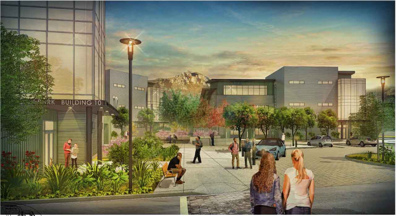 Rendering of the future expansion of the Cal Poly Technology Park