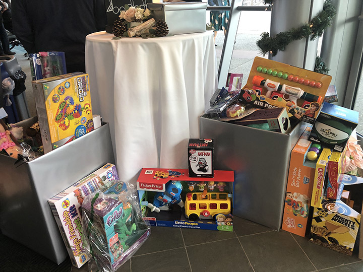 Cal Poly employees brought toys to the Dec. 6 holiday reception on campus, which were donated to local nonprofit Jack's Helping Hand.