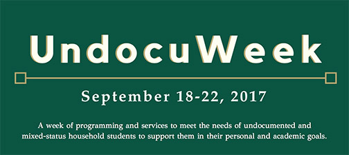 UndocuWeek will be held Sept. 18-22.