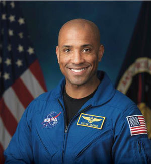 Victor Glover, NASA astronaut and Cal Poly alum, speaks at Las Positas