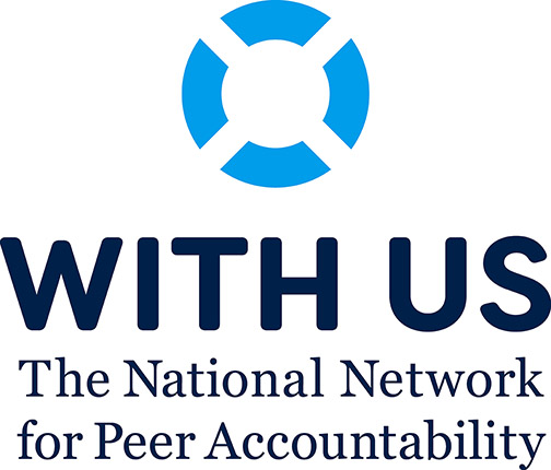 Primary logo for WITH US The National Network for Peer Accountability