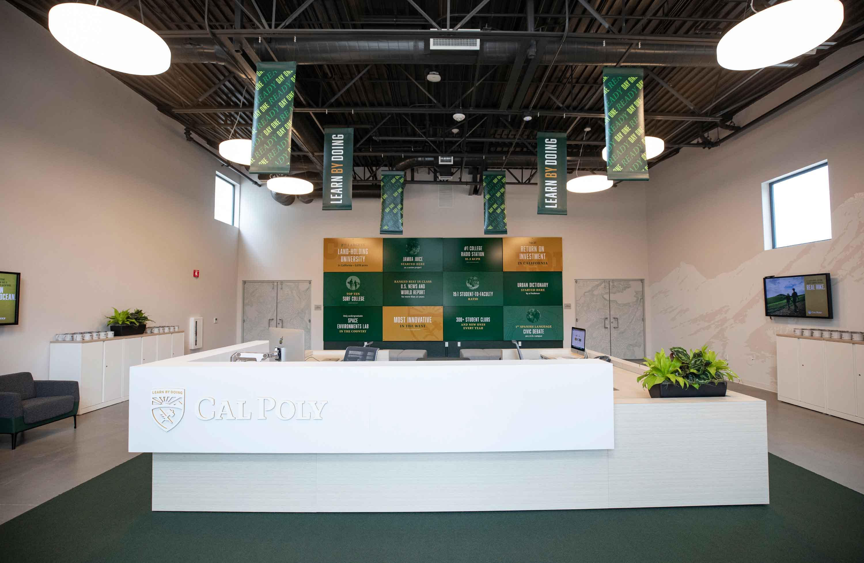 Photo of the interior of the new Welcome Center.