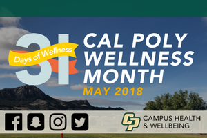 Graphic for Cal Poly Wellness Month in May