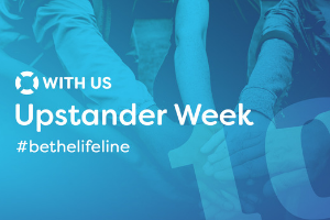 Logo for WITH US Upstander Week