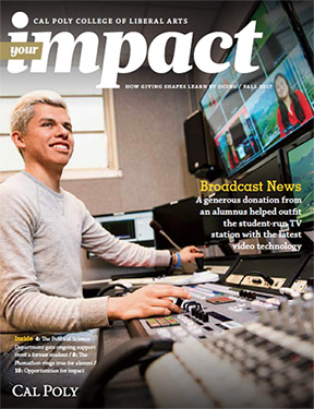Cover of Your Impact Magazine for the College of Liberal Arts
