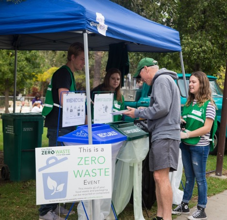 Photo of a booth during a past Zero Waste event.