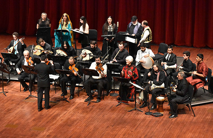 Photo from a past performance of the Arab Music Ensemble