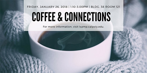 Logo for Coffee & Connections to be held Jan. 26.