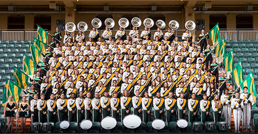 Photo of Cal Poly Mustang Band.