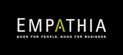 Logo for Empathia, with tagline reading Good for People. Good for Business.