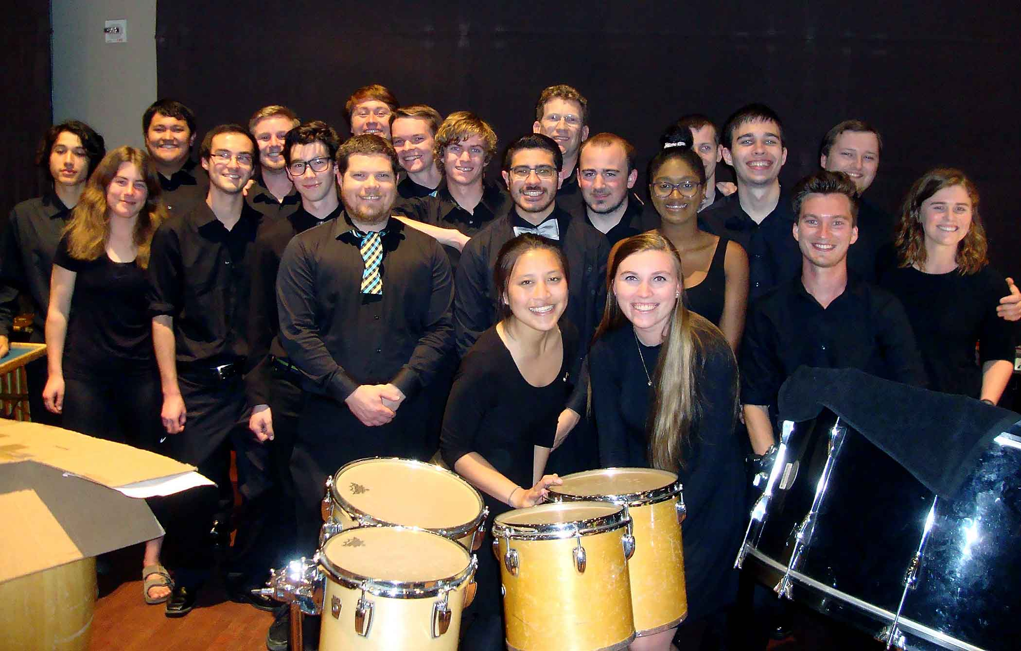 Polyrhythmic group photo.