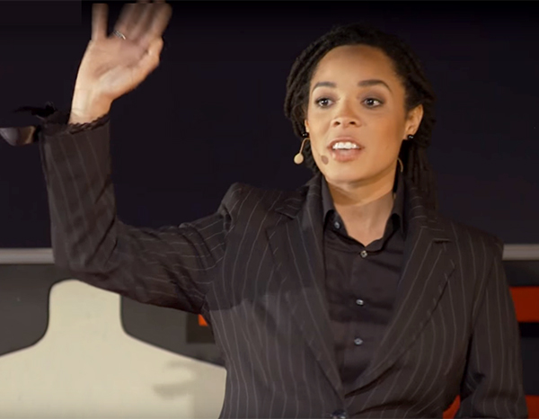 Tiffany Jana during her TED Talk