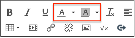 text color options in Canvas editor