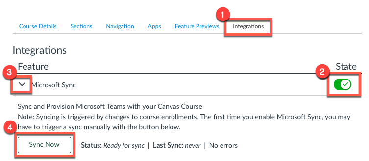 Microsoft Teams Sync