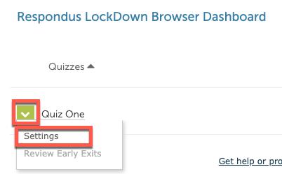 lockdown settings