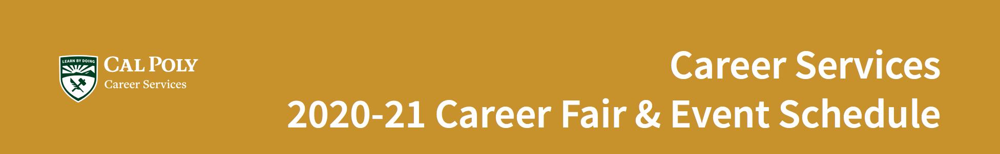Career Fair Schedule 2020-2021