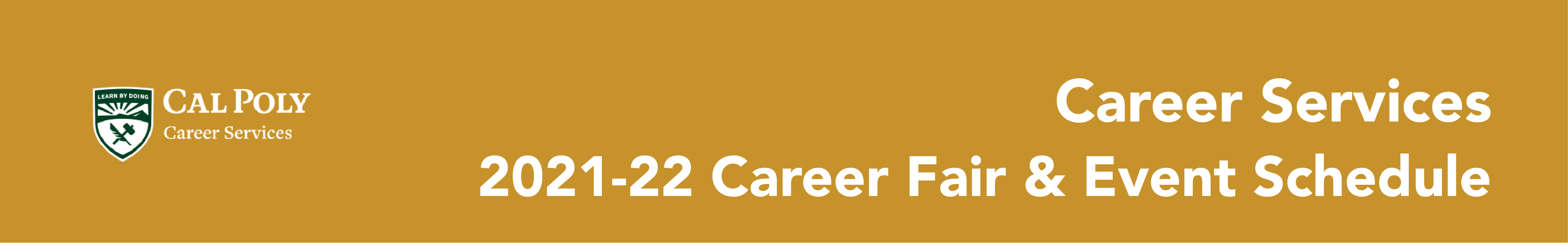 Career Fair Schedule 2021-2022