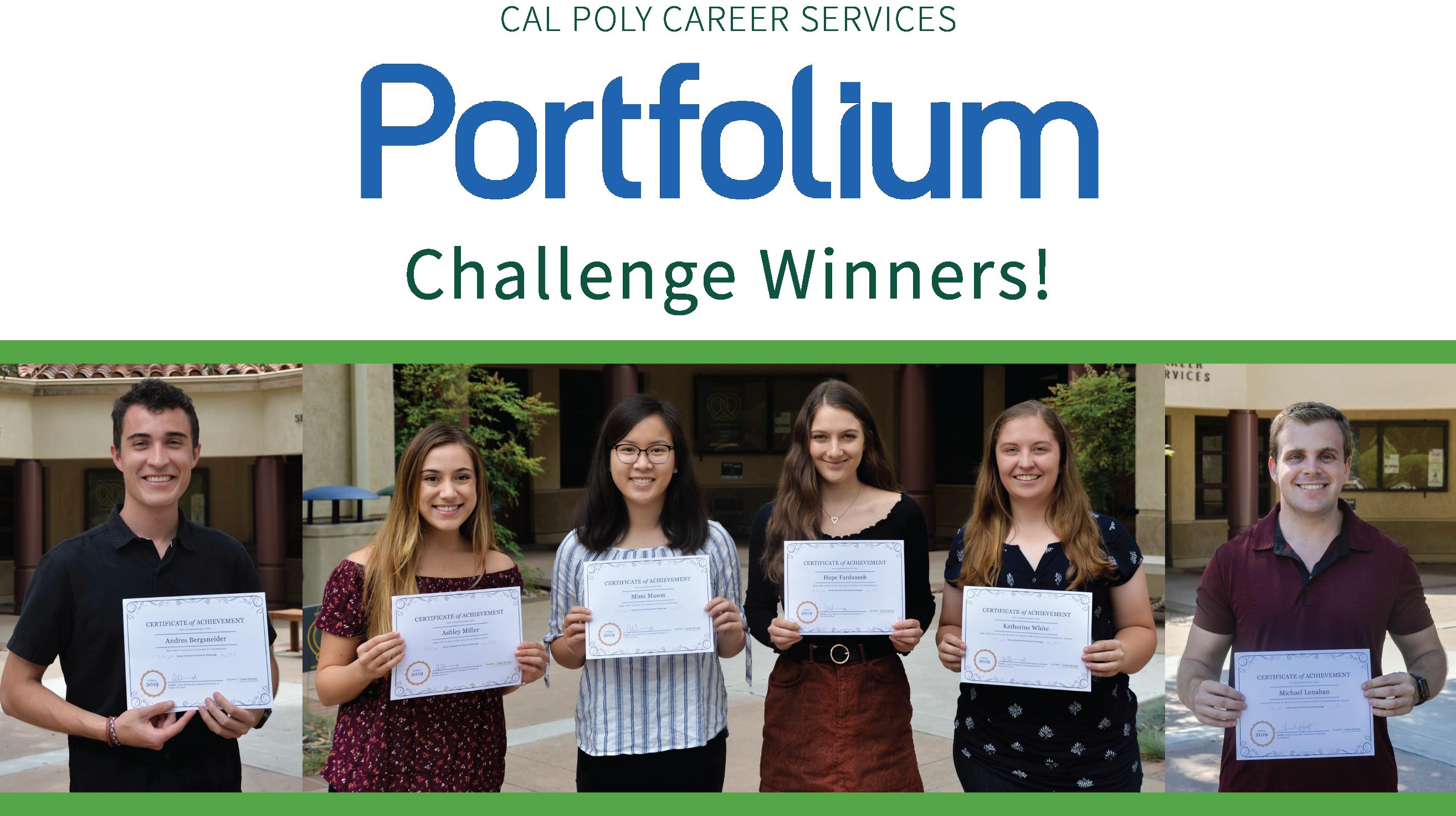 Portfolio Challenge Winner header