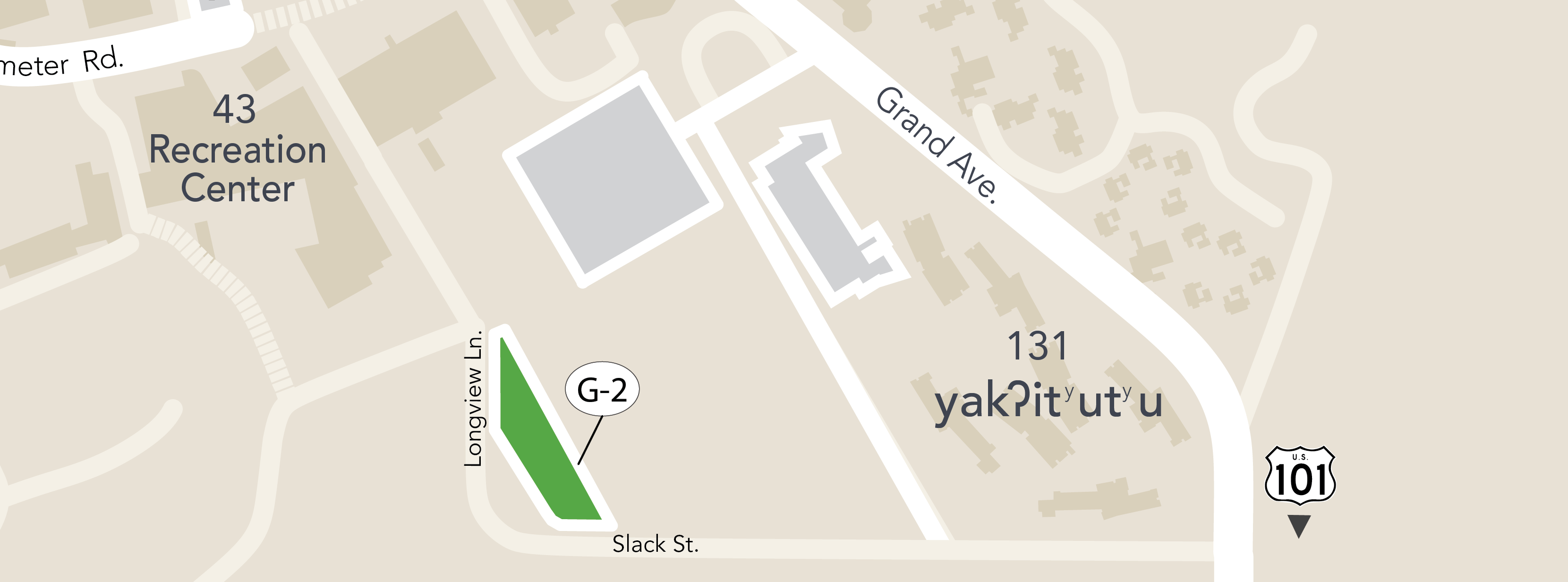 Map of parking structures on the Cal Poly campus.