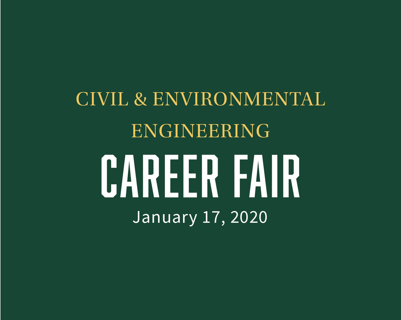 Civil and Environmental Engineering Career Fair