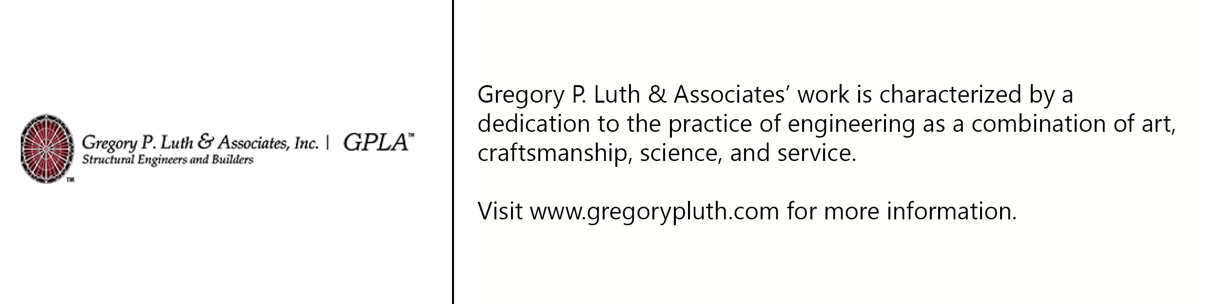 Gregory L. Puth & Assoc. logo with description of company