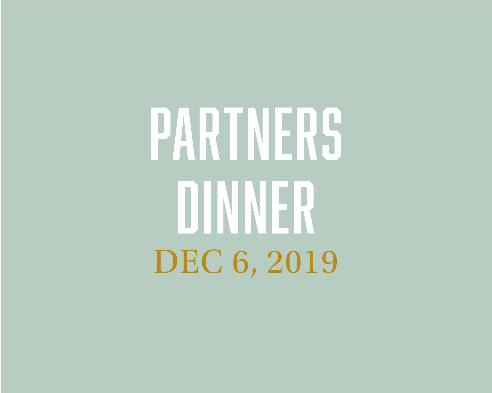 Partners Dinner