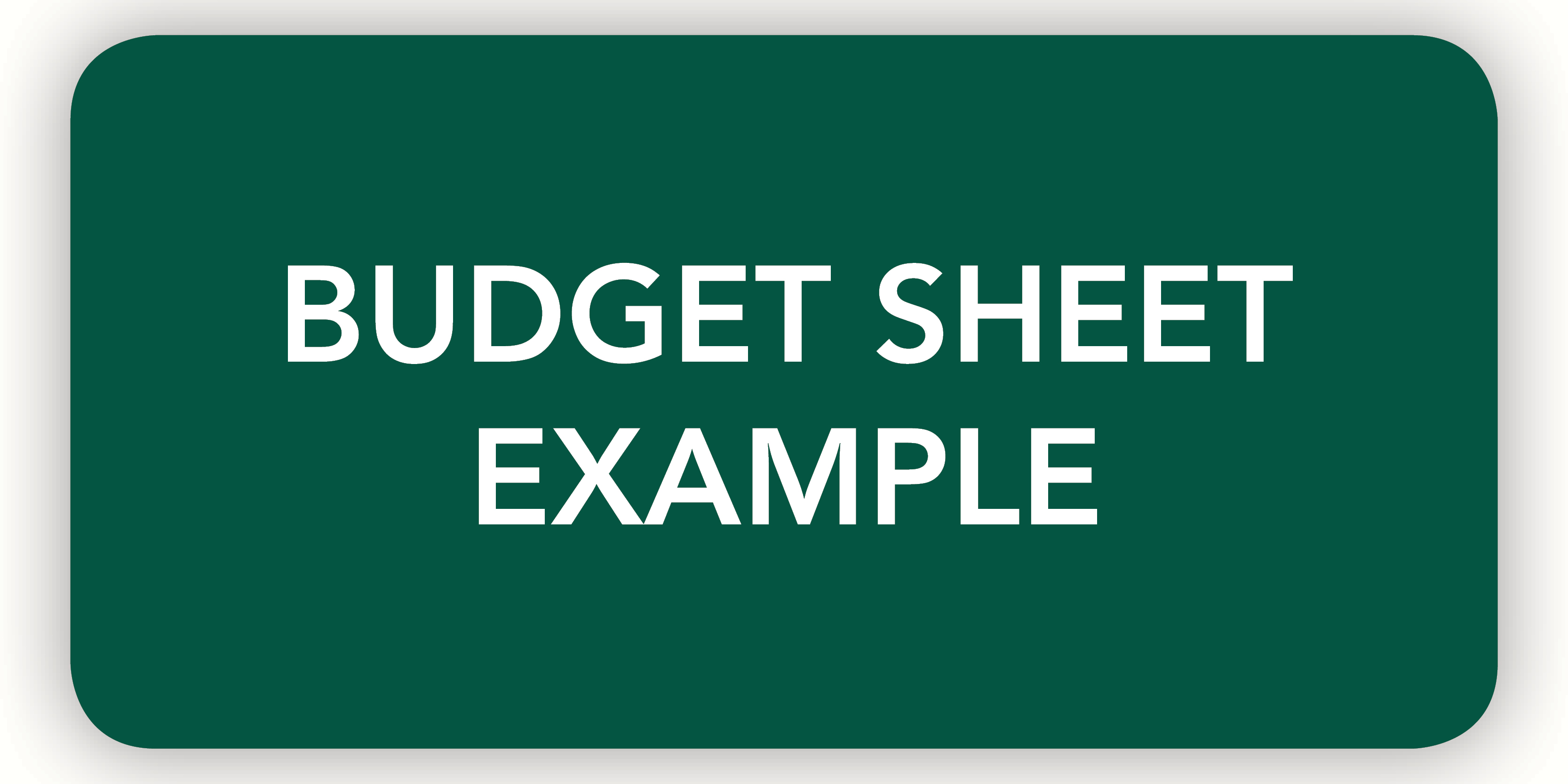 Budget sheet example