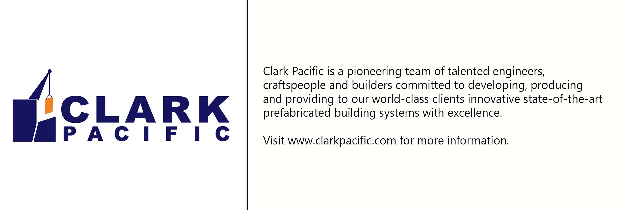 Clark Pacific  logo with description of company