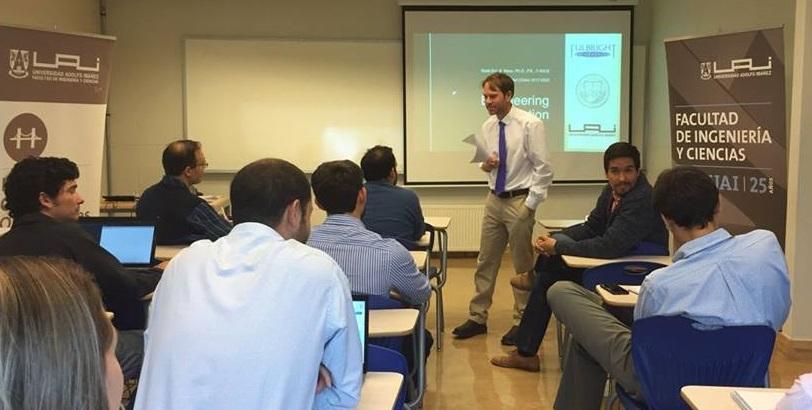 Dr. Moss teaching class