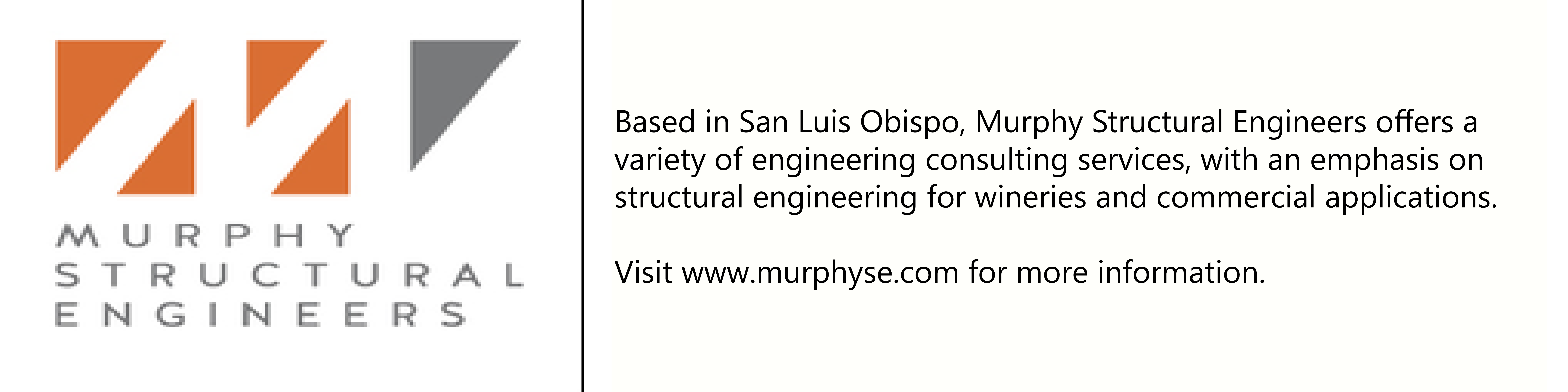 Murphy Structural Engineers logo with description of company