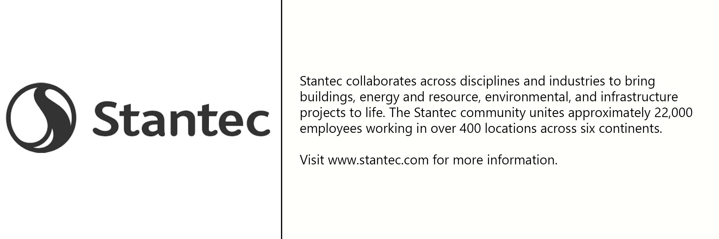 Stantec  logo with description of company