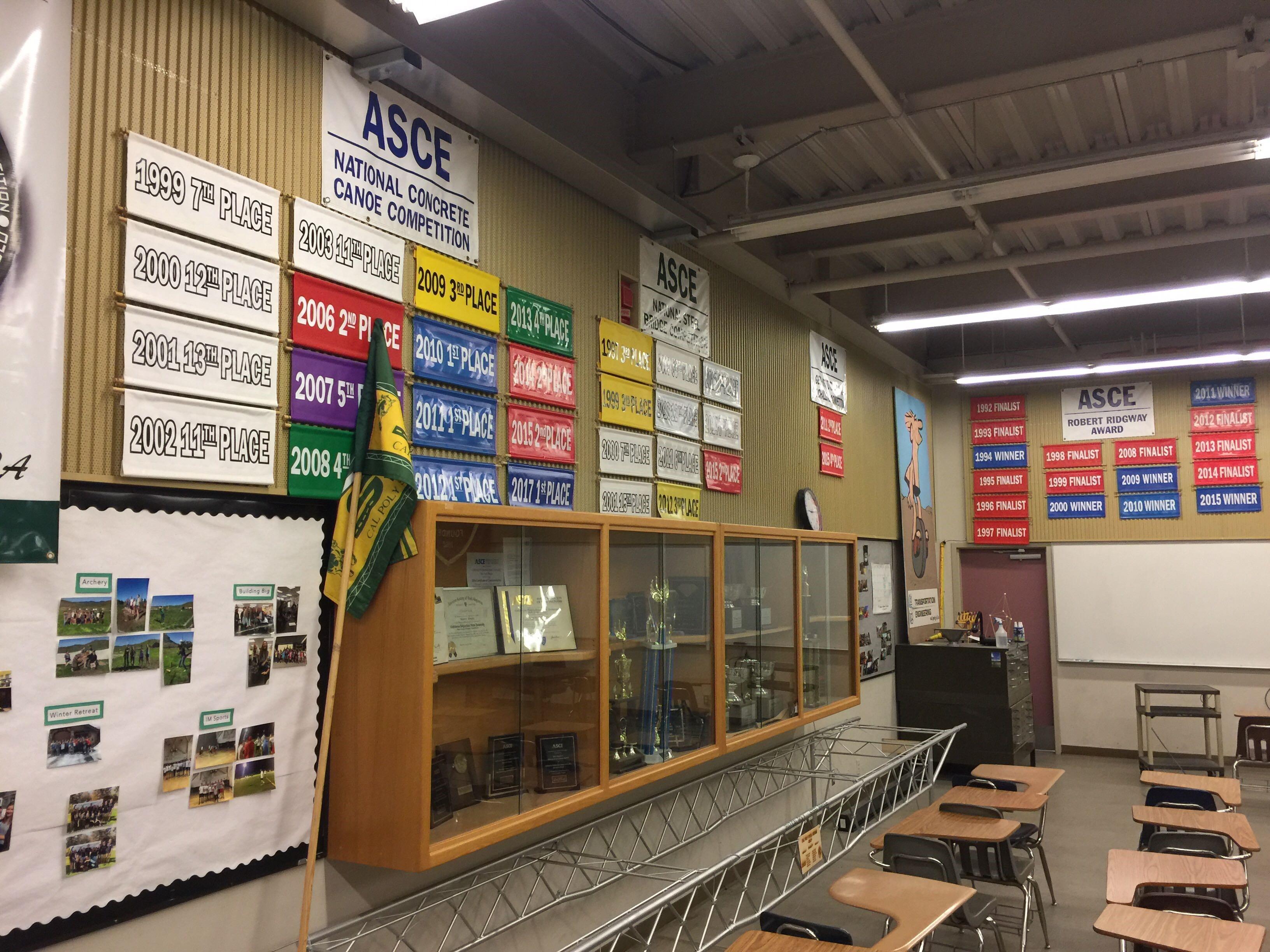Department trophy room